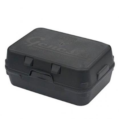 小禮堂 山田化學 日製 方形塑膠掀蓋收納盒 多功能收納盒 棉花盒 (黑)
