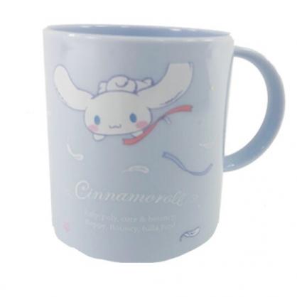 小禮堂 大耳狗 日製 單耳塑膠小水杯 兒童水杯 漱口杯 240ml (藍 天鵝)