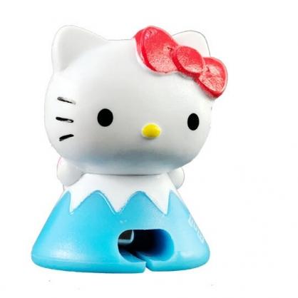 小禮堂 Hello Kitty 富士山造型傳輸線保護套 充電線套 iPhone線套 (紅藍)