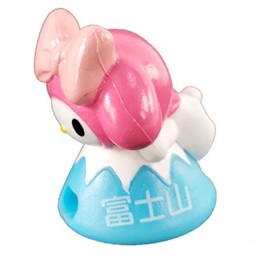 小禮堂 美樂蒂 富士山造型傳輸線保護套 充電線套 iPhone線套 (粉藍)