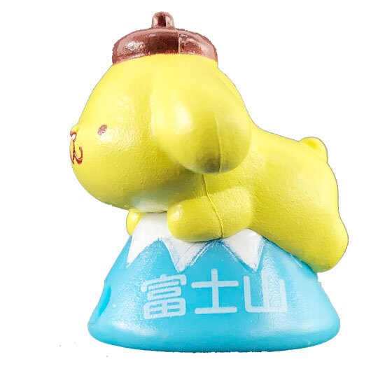 小禮堂 布丁狗 富士山造型傳輸線保護套 充電線套 iPhone線套 (黃藍)