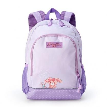 小禮堂 蹦蹦兔 兒童尼龍雙層拉鍊後背包 書包 運動背包 (紫 小熊)