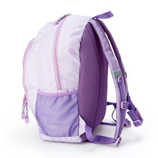小禮堂 蹦蹦兔 尼龍雙層拉鍊後背包 書包 運動背包 (紫 草莓)
