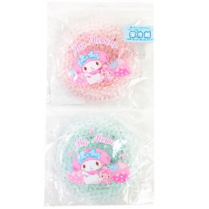 小禮堂 美樂蒂 圓形透明果凍顆粒保冷劑 保冰劑 冰敷袋 (2入 粉綠 2020新生活)