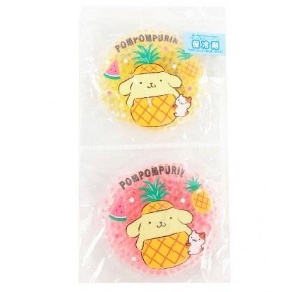 小禮堂 布丁狗 圓形透明果凍顆粒保冷劑 保冰劑 冰敷袋 (2入 黃粉 2020新生活)