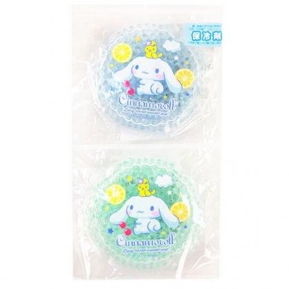 小禮堂 大耳狗 圓形透明果凍顆粒保冷劑 保冰劑 冰敷袋 (2入 藍綠 2020新生活)