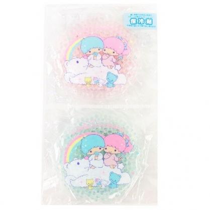 小禮堂 雙子星 圓形透明果凍顆粒保冷劑 保冰劑 冰敷袋 (粉綠 2020新生活)