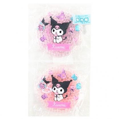 小禮堂 酷洛米 圓形透明果凍顆粒保冷劑 保冰劑 冰敷袋 (2入 粉紫 2020新生活)
