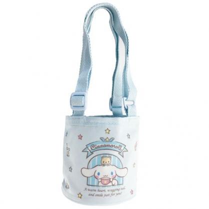 小禮堂 大耳狗 尼龍保冷飲料杯袋 環保杯袋 水壺袋 杯套 (藍 窗戶)