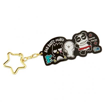 小禮堂 酷企鵝 造型壓克力鑰匙圈 吊飾 掛飾 鎖圈 (黑 朋友)