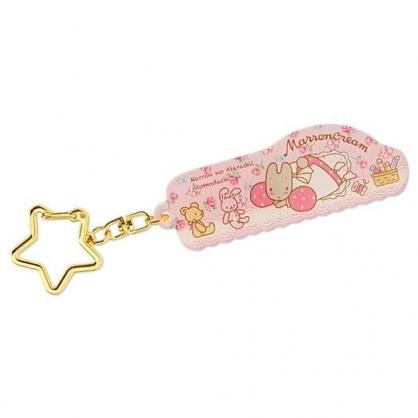 小禮堂 兔媽媽 造型壓克力鑰匙圈 吊飾 掛飾 鎖圈 (粉 玫瑰)