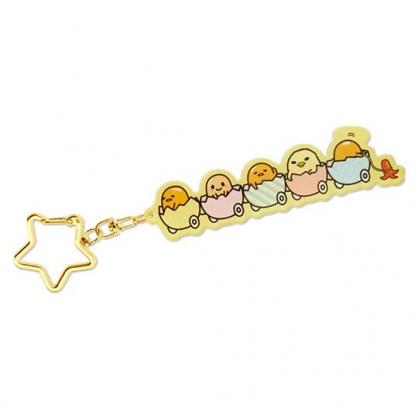 小禮堂 蛋黃哥 造型壓克力鑰匙圈 吊飾 掛飾 鎖圈 (黃 蛋殼車)