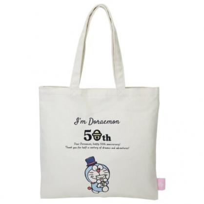 小禮堂 哆啦A夢 直式帆布側背袋 帆布手提袋 書袋 (米 信封)