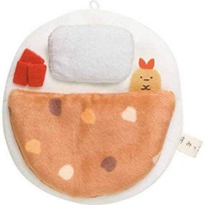 小禮堂 角落生物 迷你絨毛玩偶娃娃床 玩偶配件 布偶床 (白棕 圓形)