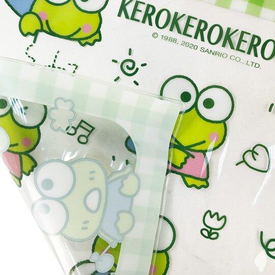 小禮堂 大眼蛙 方形透明矽膠桌墊 環保桌墊 防水餐墊 36x45cm (綠 滿版)