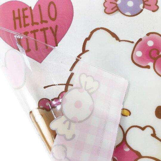 小禮堂 Hello Kitty 方形透明矽膠桌墊 環保桌墊 防水餐墊 36x45cm (粉 小熊)