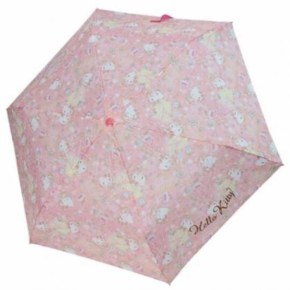 小禮堂 Hello Kitty 彎把防風傘骨折疊傘 防風折傘 雨傘 (粉 香水瓶)