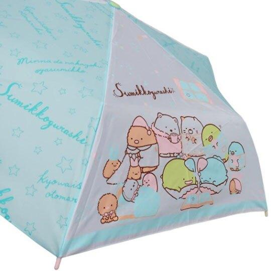 小禮堂 角落生物 彎把防風傘骨折疊傘 防風折傘 雨傘 (藍綠 睡衣)