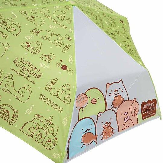 小禮堂 角落生物 彎把防風傘骨折疊傘 防風折傘 雨傘 (綠棕 麵包)