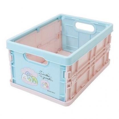 小禮堂 角落生物 塑膠折疊無蓋收納箱 CD收納盒 折疊收納盒 (S 綠粉 貝殼)