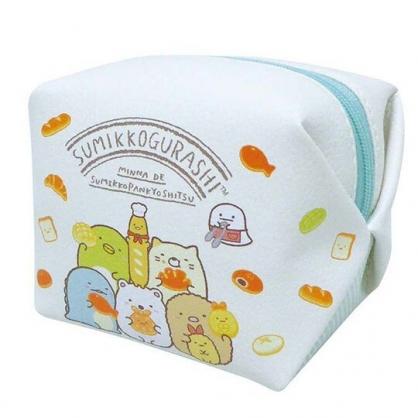 小禮堂 角落生物 迷你方形皮質化妝包 零錢包 小物包 (白綠 麵包)