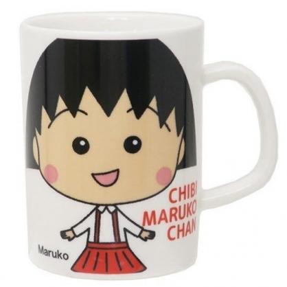 小禮堂 櫻桃小丸子 日製 陶瓷馬克杯 咖啡杯 陶瓷杯 金正陶器 (白 站姿)