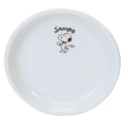小禮堂 史努比 日製 陶瓷圓盤 點心盤 咖啡盤 金正陶器 (白 領結)
