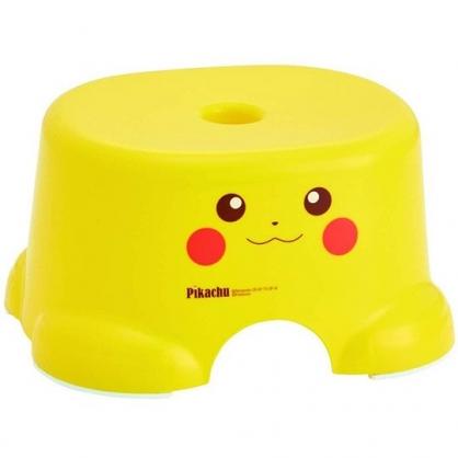 小禮堂 神奇寶貝 塑膠兒童浴椅 淋浴椅 矮凳 小椅子 (黃 大臉)