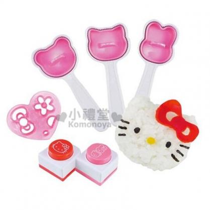 〔小禮堂〕Hello Kitty 造型飯糰模型組《紅.3種大臉形狀.盒裝》輕鬆打造趣味料理