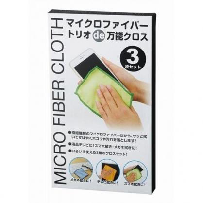 小禮堂 螢幕擦拭布組 眼鏡布 手機擦拭布 (3入 白盒裝)