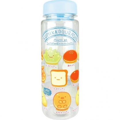 小禮堂 角落生物 透明隨身冷水瓶 塑膠水瓶 兒童水壺  500ml (藍 麵包)