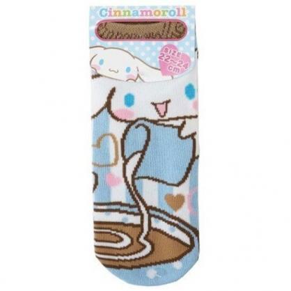 小禮堂 大耳狗 成人船型襪 短襪 隱形襪 棉襪 腳長22-24cm (藍棕 咖啡)