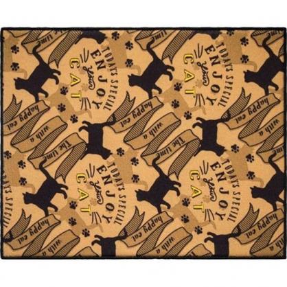 小禮堂 OKATO 方形廚房用吸水墊 餐具墊 碗盤墊 防潮墊 40x50cm (黑棕)