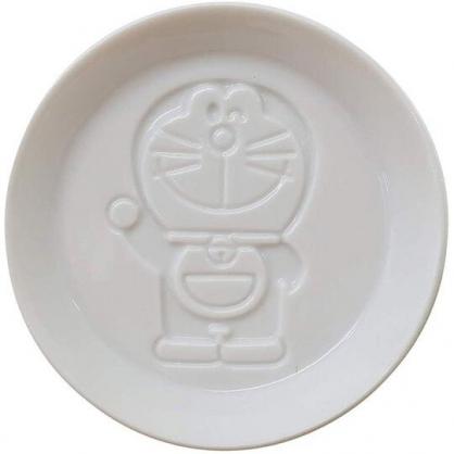 小禮堂 哆啦A夢 日製 迷你陶瓷圓盤 醬料碟 小菜碟 金正陶器 (白 招手)