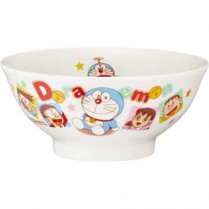 小禮堂 哆啦A夢 日製 陶瓷碗 湯碗 飯碗 金正陶器 (白 格圖)