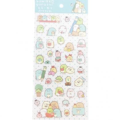 小禮堂 角落生物 造型透明貼紙 手帳貼紙 卡片裝飾 (綠 鉛筆)