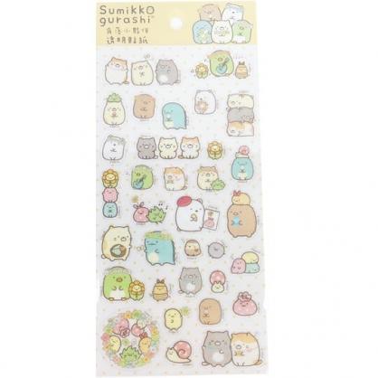 小禮堂 角落生物 造型透明貼紙 手帳貼紙 卡片裝飾 (黃 花圈)