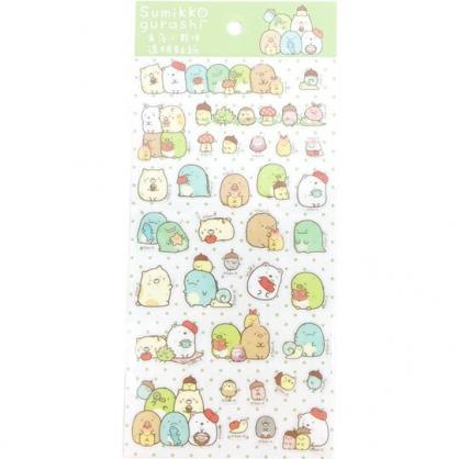 小禮堂 角落生物 造型透明貼紙 手帳貼紙 卡片裝飾 (綠 蘑菇)