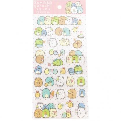 小禮堂 角落生物 造型透明貼紙 手帳貼紙 卡片裝飾 (粉 冰淇淋)