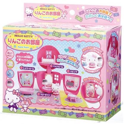 小禮堂 Hello Kitty 蘋果造型房間玩具組 扮家家酒 (粉盒裝)