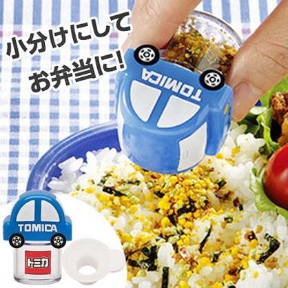 小禮堂 TOMICA小汽車 迷你造型塑膠調味罐 香鬆罐 隨身調味瓶 (藍 車)