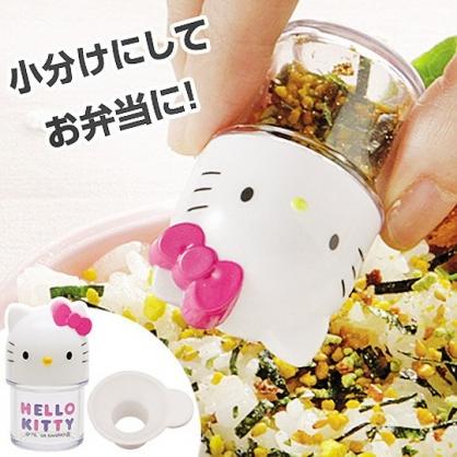 小禮堂 Hello Kitty 迷你造型塑膠調味罐 香鬆罐 隨身調味瓶 (白 大臉)