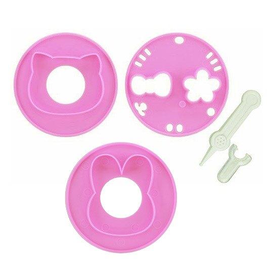 小禮堂 Hello Kitty 日製 大臉造型便當壓模組 蔬菜壓模 煎蛋模具 (粉 大臉)