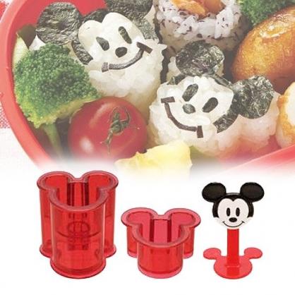 小禮堂 迪士尼 米奇 大臉造型迷你飯糰壓模組 便當模具 DIY飯糰模 (紅)