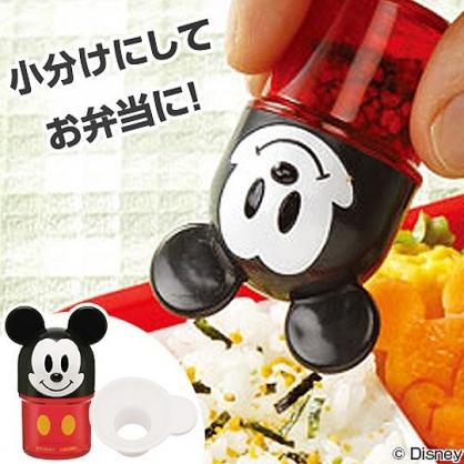 小禮堂 迪士尼 米奇 迷你造型塑膠調味罐 香鬆罐 隨身調味瓶 (紅 大臉)