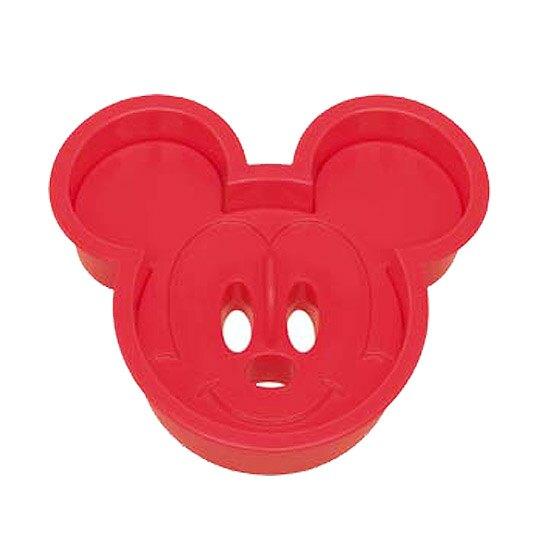 小禮堂 迪士尼 米奇 日製 大臉造型吐司壓模 餅乾模具 三明治壓模 (紅)