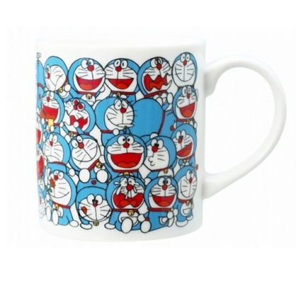 小禮堂 哆啦A夢 日製 陶瓷馬克杯 咖啡杯 陶瓷杯 金正陶器  (藍白 50週年)