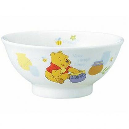 小禮堂 迪士尼 小熊維尼 日製 陶瓷碗 湯碗 飯碗 金正陶器 (白黃 蜂蜜)