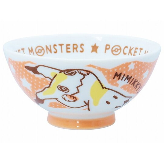 小禮堂 神奇寶貝 日製 陶瓷碗 湯碗 飯碗 金正陶器 (白橘 舉手)