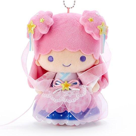 小禮堂 雙子星LALA 絨毛吊飾 娃娃吊飾 七夕掛飾 鑰匙圈 (粉 2020浪漫七夕)